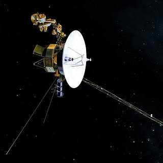 Artist's conception of Voyager spacecraft in space
