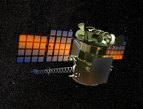Concept image of Deep Space Climate Observatory (DSCOVR) satellite.