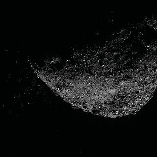 Photo of part of the asteroid Bennu