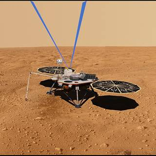 artist's rendering of the lidar instrument, which would remotely profile, for the first time, water vapor up to nine miles above the Martian surface