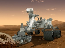 artist's conception of MSL on Mars