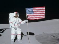 U.S. Astronaut on Moon