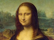 IMage of the Mona Lisa painting.