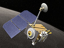 Artist's concept of LRO in orbit.