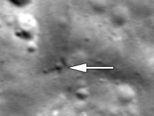 LRO LROC after view of GRAIL-A (Ebb) impact.