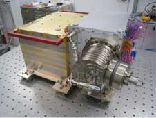 The Neutral Gas and Ion Mass Spectrometer (NGIMS) instrument, shown here at NASA's Goddard Space Flight Center in Greenbelt, Md