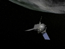Photo of Artist's conception of OSIRIS-REx landing on an asteroid.