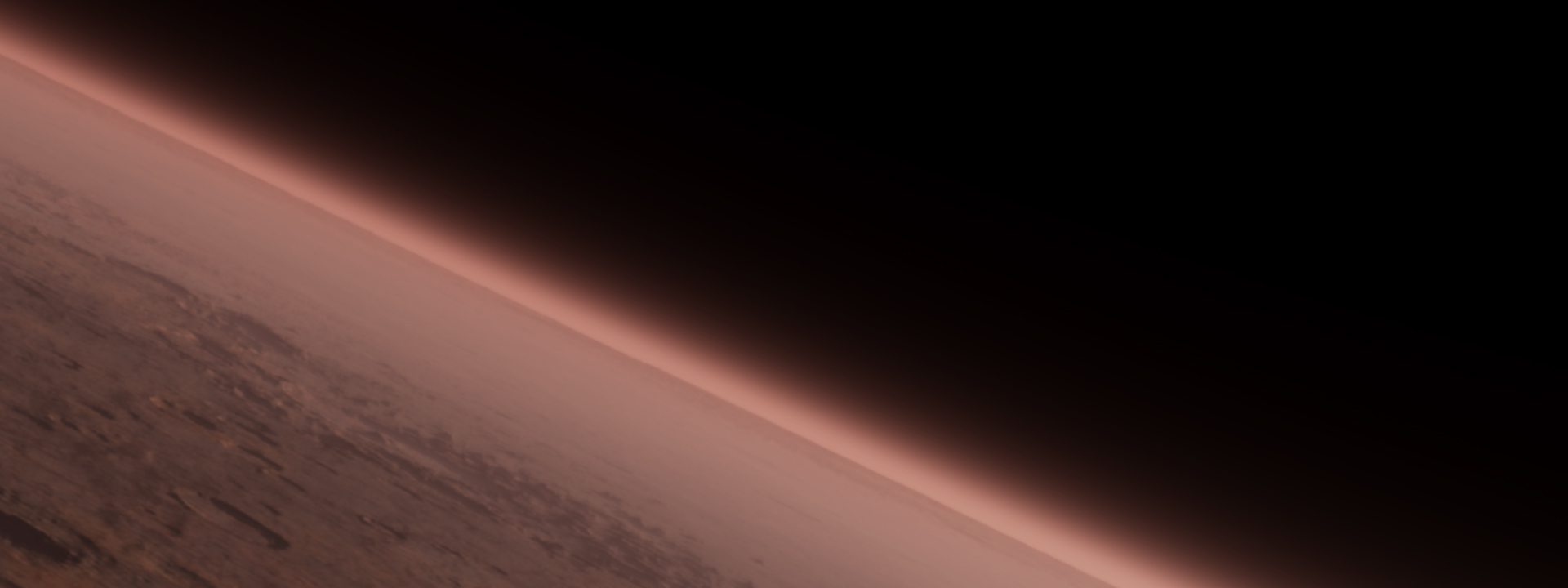 Image of Mars' atmosphere and limb.