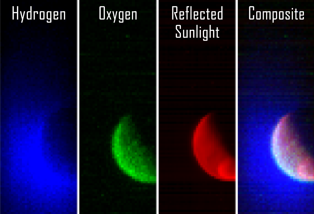 The Imaging Ultraviolet Spectrograph (IUVS) instrument obtained these false-color images eight hours after the successful completion of Mars  orbit insertion by MAVEN