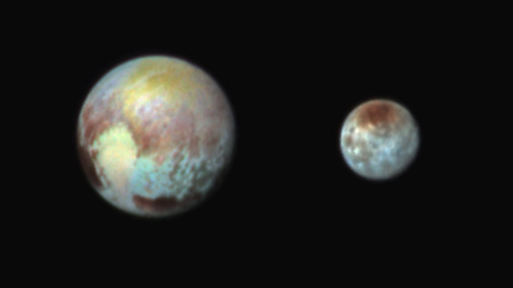 Photo of Colorful images of Pluto and its moon Charon