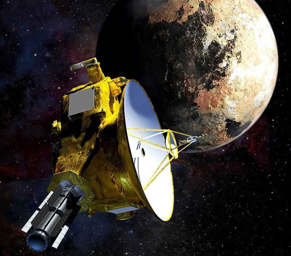 Photo of Artist's depiction of the New Horizons spacecraft at Pluto