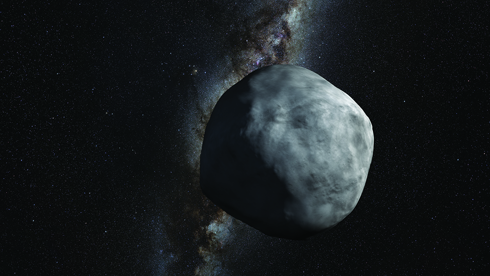 Artist's depiction of asteroid Bennu