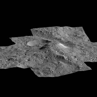 Side view of Ceres' mysterious mountain Ahuna Mons, made with images from NASA's Dawn spacecraft