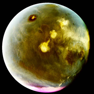 Image from MAVEN's Imaging UltraViolet Spectrograph of rapid cloud formation on Mars on July 9-10, 2016. The ultraviolet colors of the planet have been rendered in false color, to show what we would see with ultraviolet-sensitive eyes.