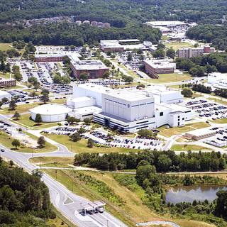 Aerial photo of NASA Goddard Space Flight Center buildings