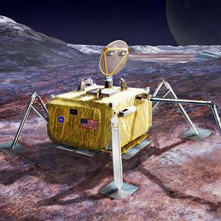 Conceptual design for a potential future mission to land a robotic probe on Jupiter's moon Europa