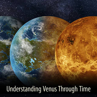 artists conception of venus represented several times with different surface features