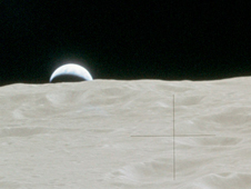 Earthrise as seen on the Apollo 14 Mission