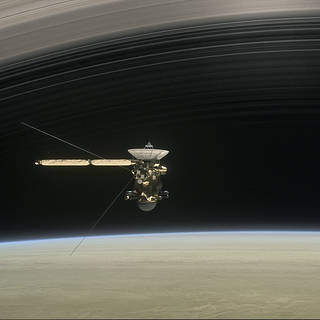 Artist's depiction of the Cassini spacecraft