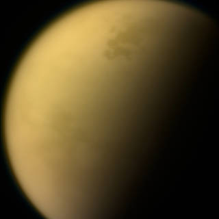 Image of Saturn's largest moon, Titan, taken by NASA's Cassini spacecraft