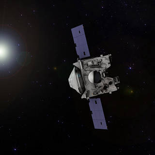 Illustration depicting NASA's OSIRIS-REx spacecraft