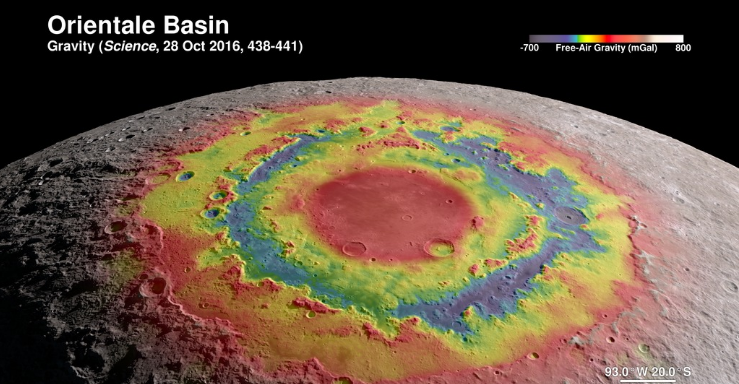 Orientale Basin gravity map