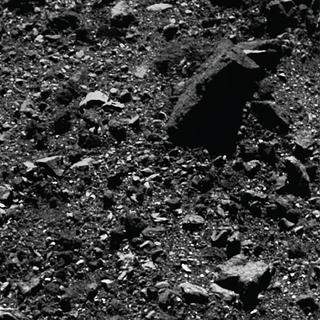 Trio of images acquired by NASA's OSIRIS-REx spacecraft showing a wide shot and two close-ups of a region in asteroid Bennu's northern hemisphere.