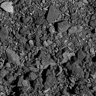 Photo of details of Bennu's surface