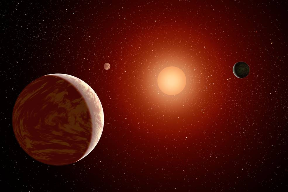 Artist's conception of planet around another star